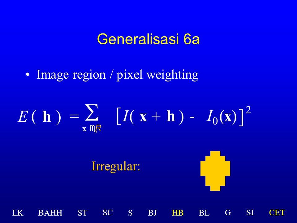 S [ ] I0 E ( h ) = I ( x + h ) - ( x ) 2 Generalisasi 6a